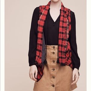 Anthropologie Roxanne Checked Vest. Small.